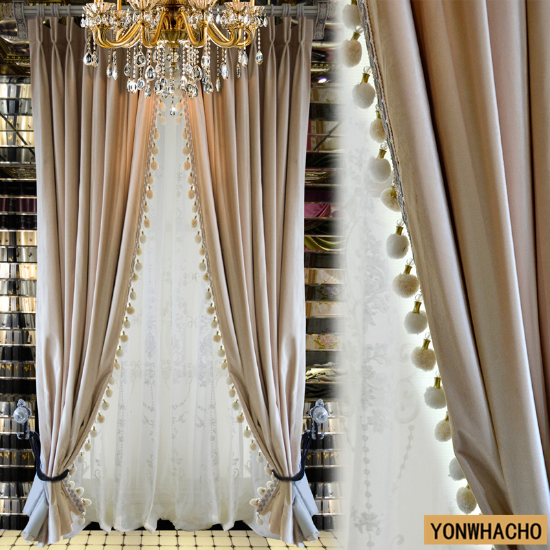 Blackout Curtains For Living Room Hotel European Simple: Custom Curtains Living Room European Velvet Cloth Simple