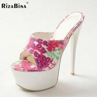 RizaBina women high heel sandals new arrival platform slippers brand summer vintage footwear heels shoes size33-40 P23260