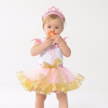 YK&Loving Pink 1st Birthday Boutique Outfits Sets For Kids Girl Sleeveless Shirts Tops+Tutu Skirts Bow Clothes Party Dance Wear