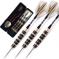 CUESOUL Archer 23 Grams Steel Tip Darts Black Coating Brass Barrels