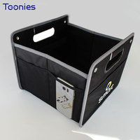 Smart Fortwo Forfour Logo Foldable Black Storage Box Bag Oxford Cloth Organizer Car Styling Auto Accessories