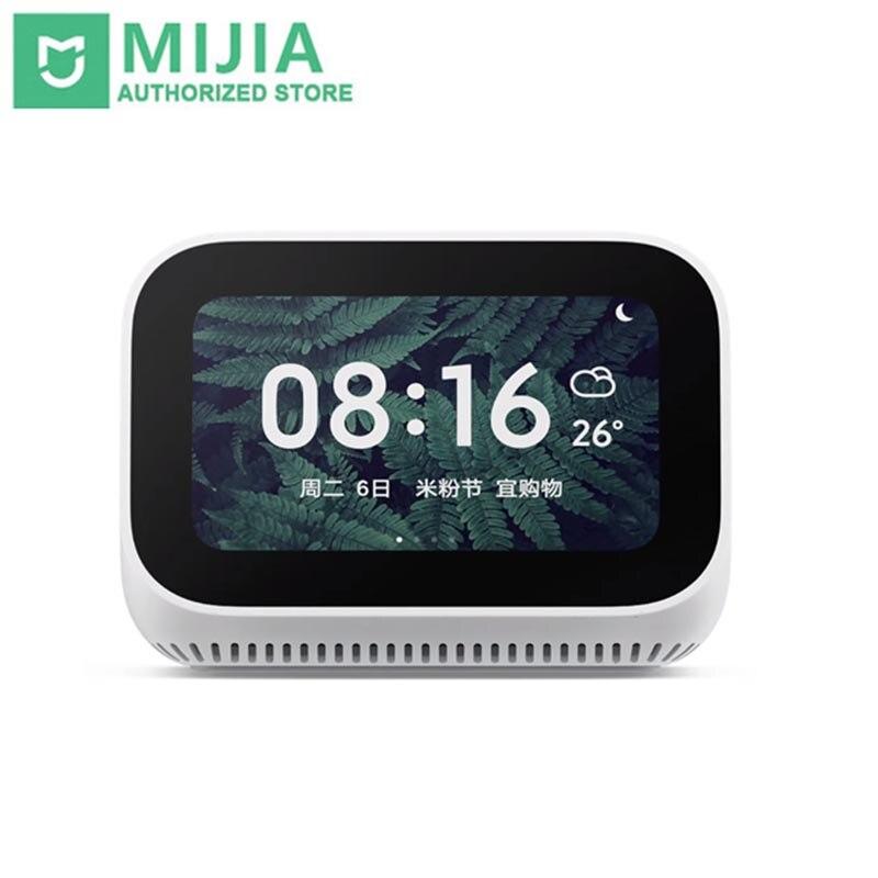 Original Xiao mi AI écran tactile haut-parleur Bluetooth 5.0 affichage numérique réveil WiFi connexion intelligente haut-parleur mi haut-parleur