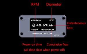 Image 5 - Barrow Oled Digitale Display Waterhoeveelheidmeter Water Koeler Systeem Dubbele G1/4 Flow Sensor Montage