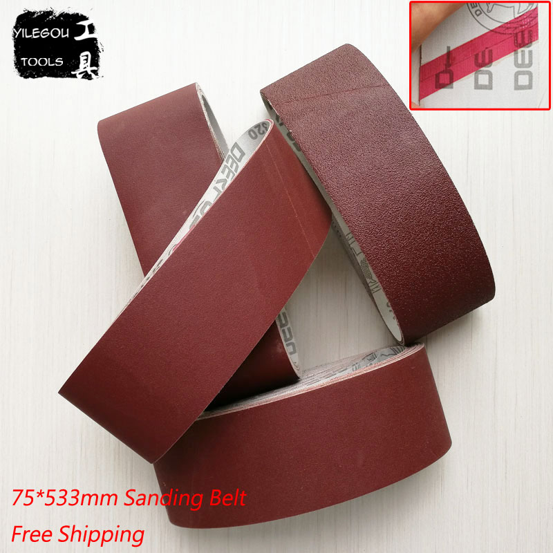 15 Pieces 75*533mm Sanding Belts 75 * 533mm Sanding Band 3