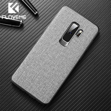 FLOVEME Soft Cloth Case For Samsung A50 A70 A40 A30 Luxury Phone Case For Samsung Galaxy S10 S8 S9 Plus S7 Note 9 8 Cover Cases(China)