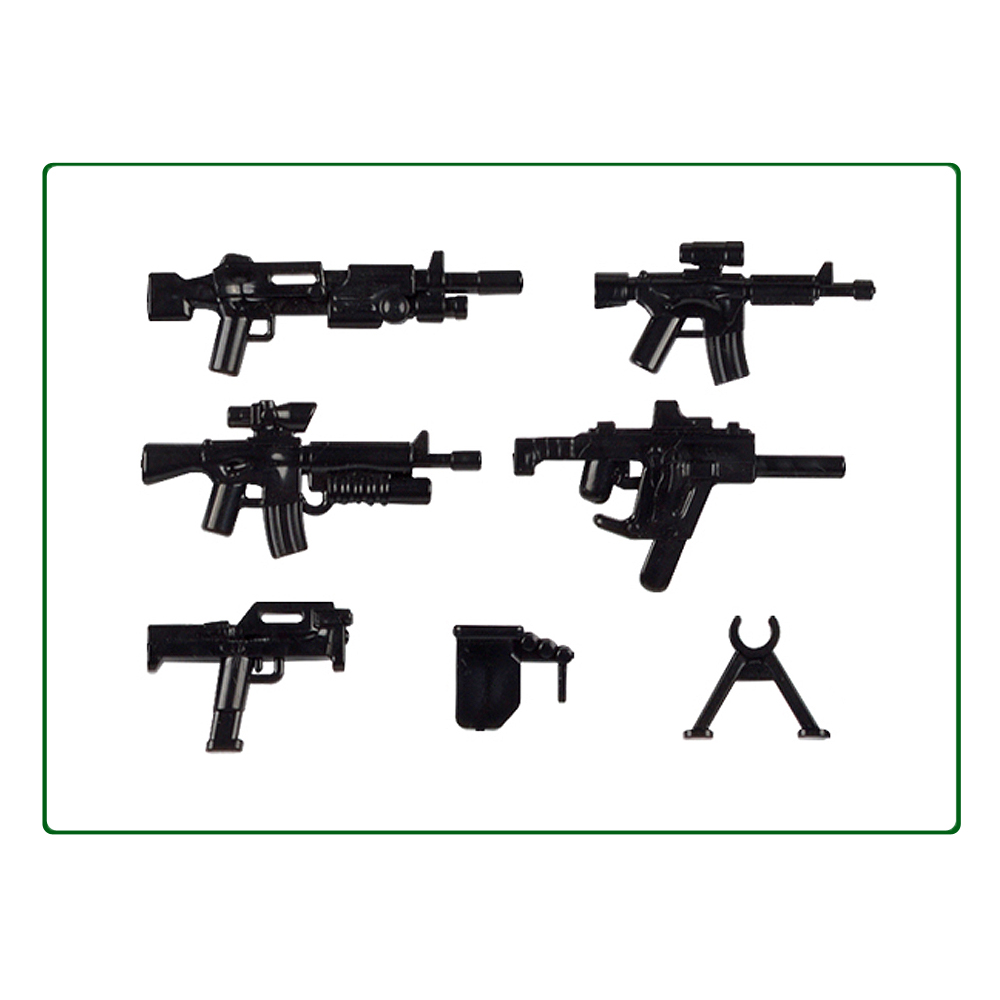 WW2 Military Weapon Pack  MOC Army Accessory Building Blocks Soldier Figure Gun City Police SWAT Team