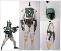 Movie Star Wars Boba Fett Cosplay Costume Custom Superhero Nanosuit Belts + Bag Custom Men Costume PVC Helmet Halloween Carnival