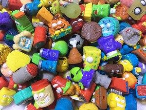 Image 4 - 100 개/몫 인기 만화 애니메이션 액션 피규어 장난감 뜨거운 쓰레기 인형 grossery 갱 모델 장난감 인형 어린이 크리스마스 선물