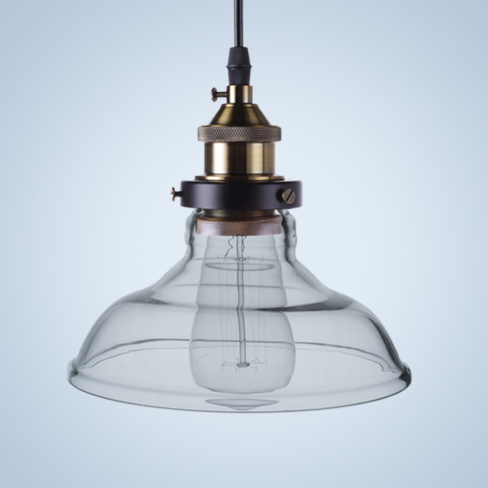 Buy vintage glass shadelamp pendant lamp for Industrial bulb pendant