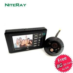 Цифровой дверной глазок, детектор движения, камера для входной двери, видео, дверной звонок, фото/видео, ИК Ночное Видение
