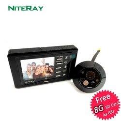 ¡Gran oferta! Detección de movimiento puerta frontal cámara vídeo mirilla puerta visor puerta campana Tomar foto/vídeo con visión nocturna IR