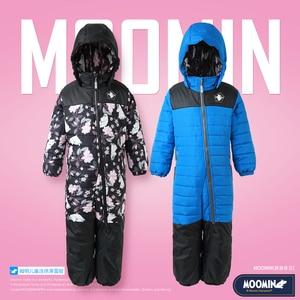 Image 1 - Moomin muumi bleu hiver ensemble garçons hiver combinaison imperméable 160 cm chaud garçons hiver ensemble enfant 20 degrés dessin animé ensemble
