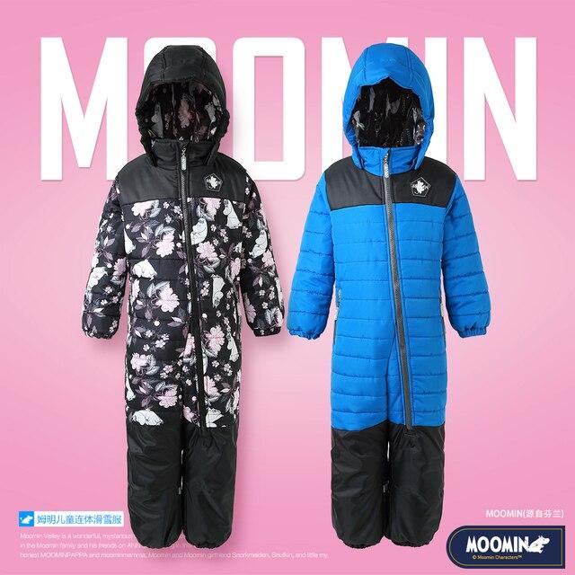 Moomin muumi bleu hiver ensemble garçons hiver combinaison imperméable 160 cm chaud garçons hiver ensemble enfant 20 degrés dessin animé ensemble