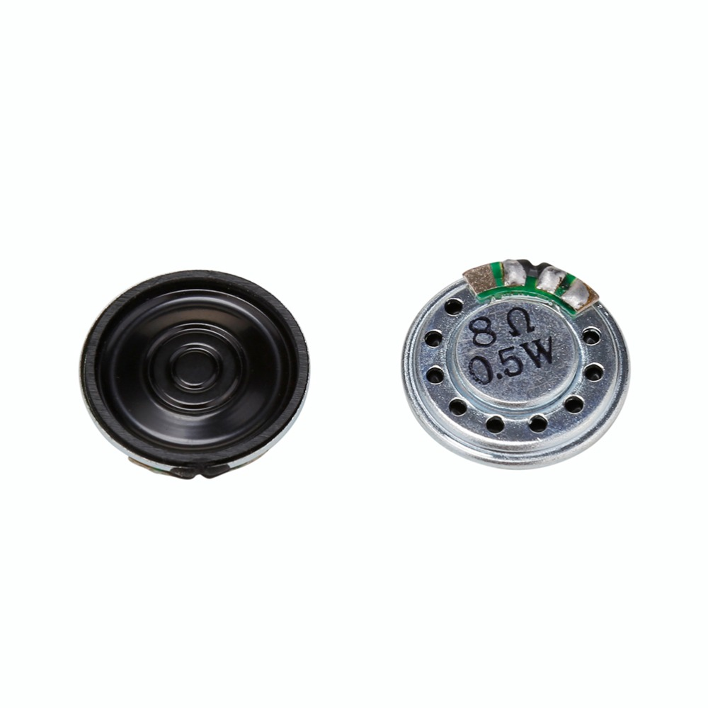 Bene 20mm 8ohm 0.5 W Audio Stereo Speaker Woofer Altoparlante Tromba Corno Buzzer Nuovo Accessori Elettronici 2 Pz