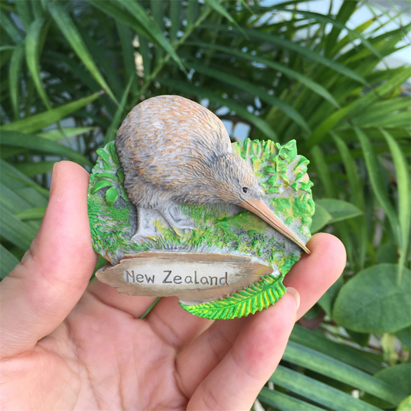 <font><b>New</b></font> <font><b>Zealand</b></font> 3D <font><b>Fridge</b></font> <font><b>Magnet</b></font> Animal Bird Apteryx World Travel <font><b>Souvenir</b></font> Decorative Refrigerator Magnetic Stickers image