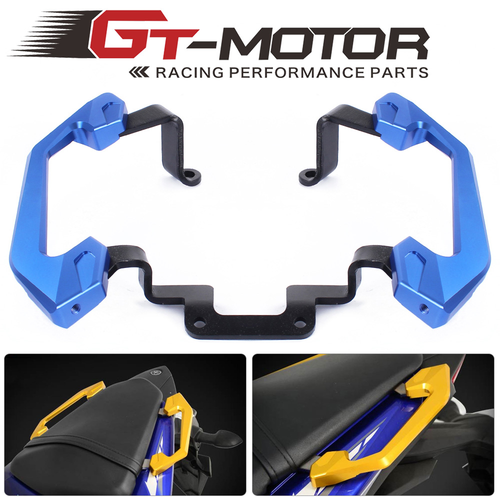 GT Motor-High Quality Rear Grab Bars Rear Seat Pillion Passenger Grab Rail Handle For Yamaha YZF R3 2013-2016 car accessories front seat grab handles grab bars 2
