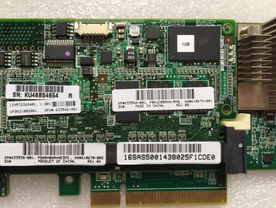 Working For HP P420 Array 1GB/512M Cache RAM + Battery 631670-B21 633538-001 633542-001  Raid Card Assembly Well Tested