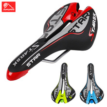 цена на Mountain Bike Saddle MTB Road Bike Saddles Bicycle Seat Cover PVC Breathable Soft Bicycle Front Seat Cushion Cycling Accessories