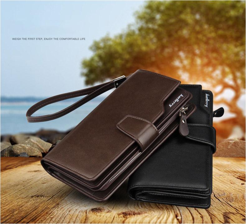 Topdudes.com - Multifunctional Casual Zipper Portfolio Wallet