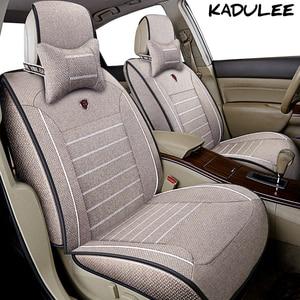 KADULEE Lino cubierta de asiento de coche para renault logan duster fluence kadjar sandero laguna escénica latitud megane 3 4 accesorios de Auto
