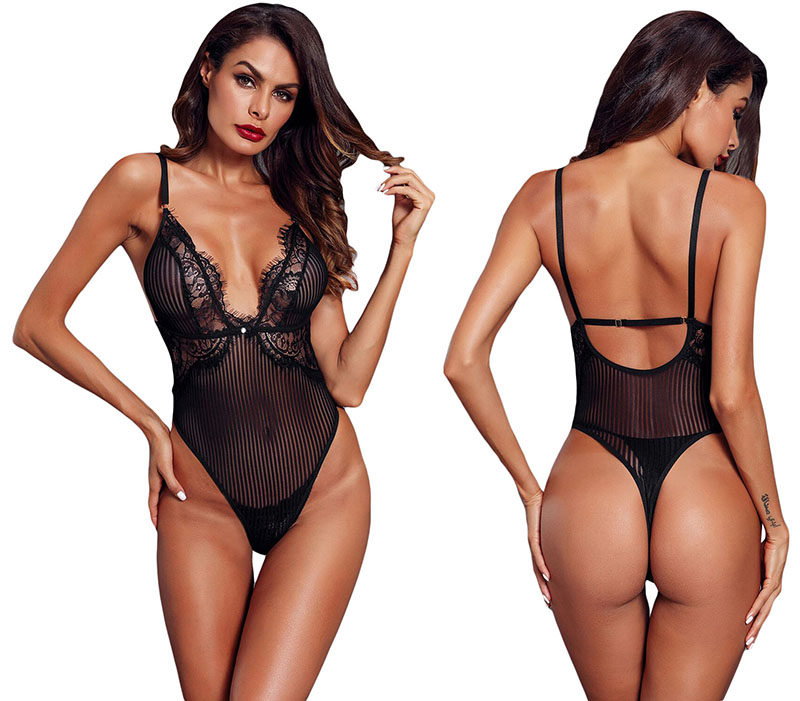 Black-Triangular-Lace-Bodysuit-LC32223-2-17