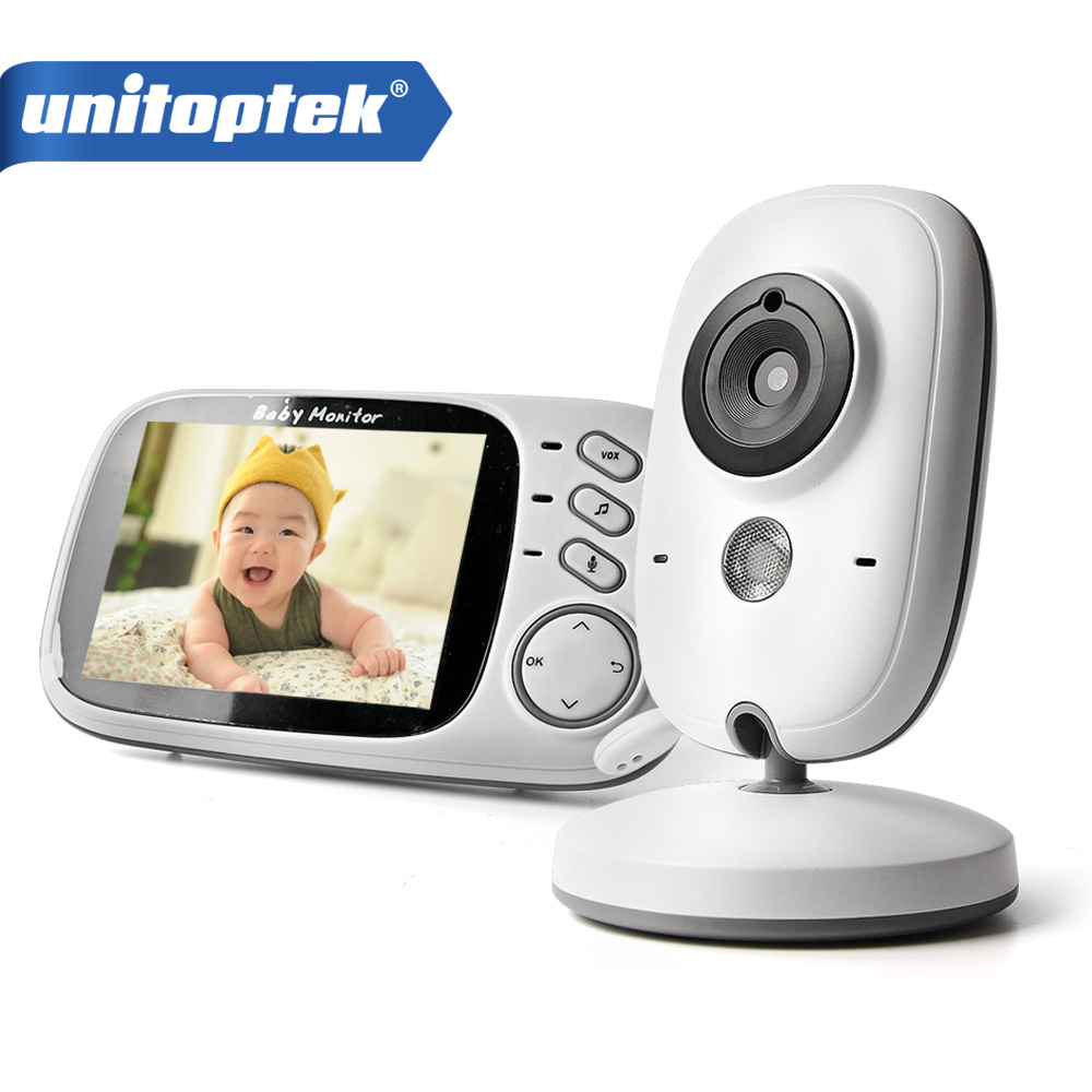 3.2 Inch 2.4GHz Wireless Video Color Baby Monitor High Resolution Baby Nanny Security Camera Night Vision Temperature Monitoring wireless 2 4 lcd color baby monitor high resolution lullabies kid nanny radio babysitter night vision remote camera newborn gift