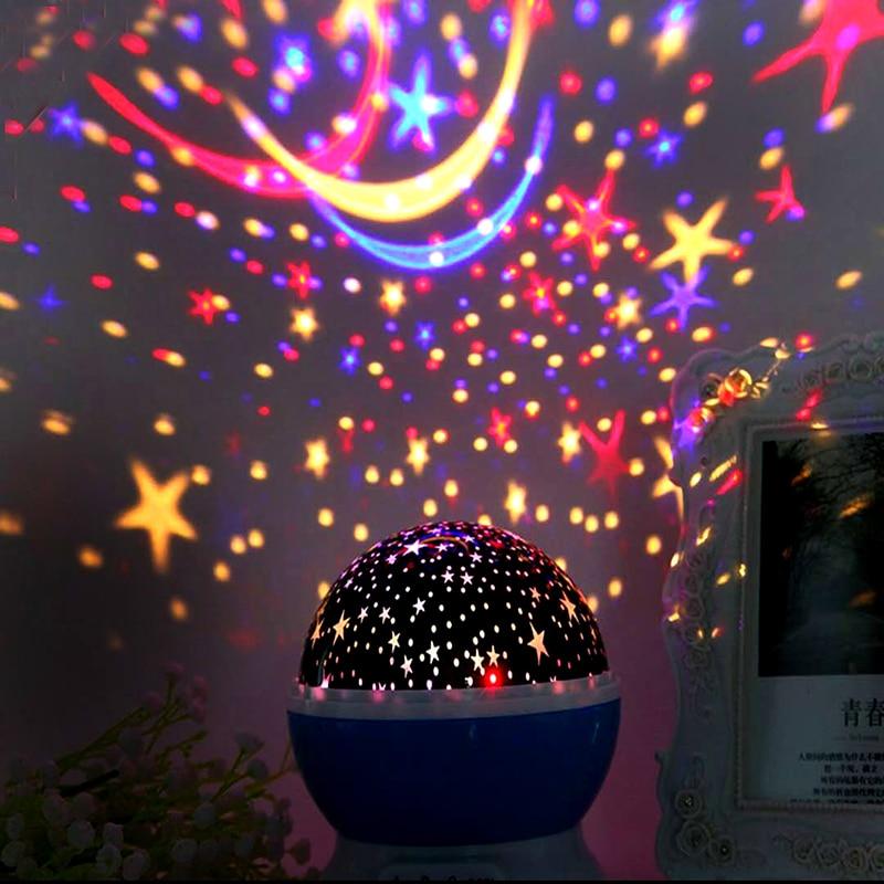 Novelty Luminous Light-Up Fun Toys Starry Sky LED Night Light Projector Baby Kids Room Sleep Lamp BirthdayXmas Gift For Child (3)