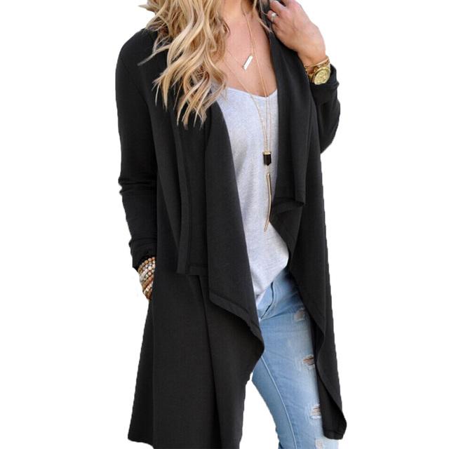 Mulheres blazers e jaquetas de Malha irregular longo divisão costura cardigan cape casaco OL terno blazer jaquetas casuais jaqueta