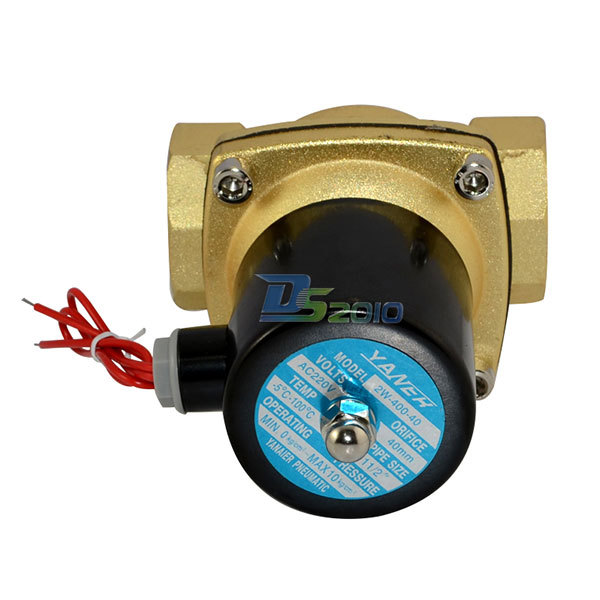 Good Quality Solenoid Valve NPT1.5 DC 24V Direct Water Air Oil Gas Normally Closed Electric Brass NBR/VITON Material