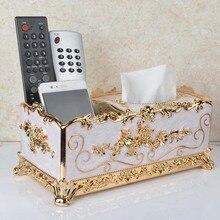 Creative Tissue Box Elegant Gold Plastic Boxes Napkin Holder Cover For Napkins Home Decoration Kitchen