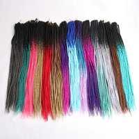 Luxus Für Flechten 24 zoll Ombre Senegalese Twist Haar Häkeln zöpfe 24 Wurzeln/pack Synthetische Flechten Haar für Frauen grau Rosa