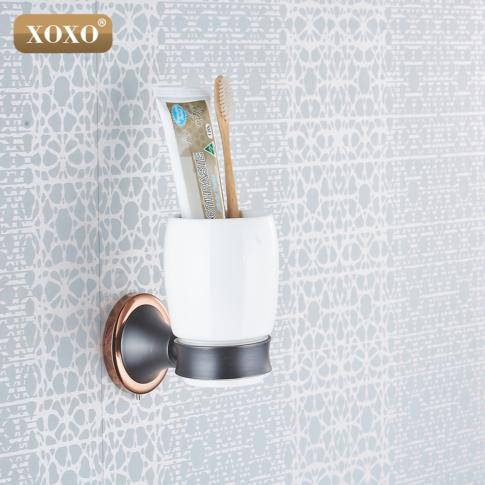 XOXOFree Shipping  copper Porcelain Cup & Tumbler Holders Brass Dual purpose punch and paste Wall Mounted brush Cup 21084XOXOFree Shipping  copper Porcelain Cup & Tumbler Holders Brass Dual purpose punch and paste Wall Mounted brush Cup 21084