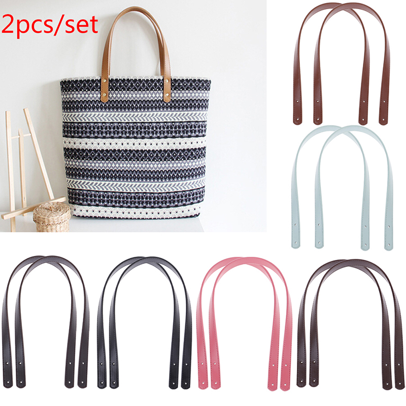 1 Pair Hot Women Girl PU Leather Purse Shoulder Handbag DIY Sewing Strap Handle Replacement Bag Accessories 3 Styles