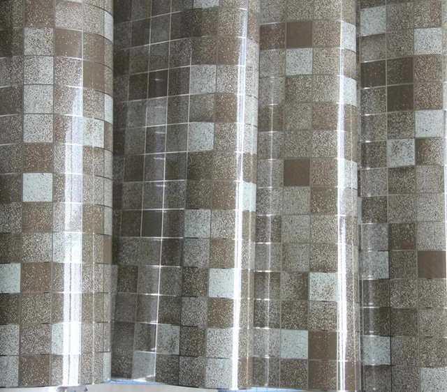 Modernes Badezimmer Wasserdicht Mosaik Vinyl PVC Selbstklebende Anti Öl  Küche Tapete Hitzebeständigkeit DIY Home Decor Wandaufkleber