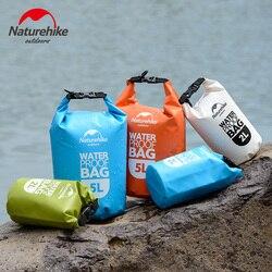 Naturehike PVC Outdoor Waterproof Bag Camping Hiking Dry Organizers Drifting Kayaking Swimming Bags 2L 5L 4 Colors Travel Kits