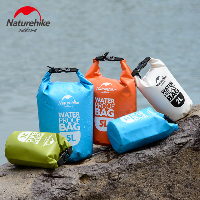 35bc6d449a Naturehike PVC Outdoor Waterproof Bag Camping Hiking Dry Organizers Drifting  Kayaking Swimming Bags 2L 5L 4 Colors Travel Kits