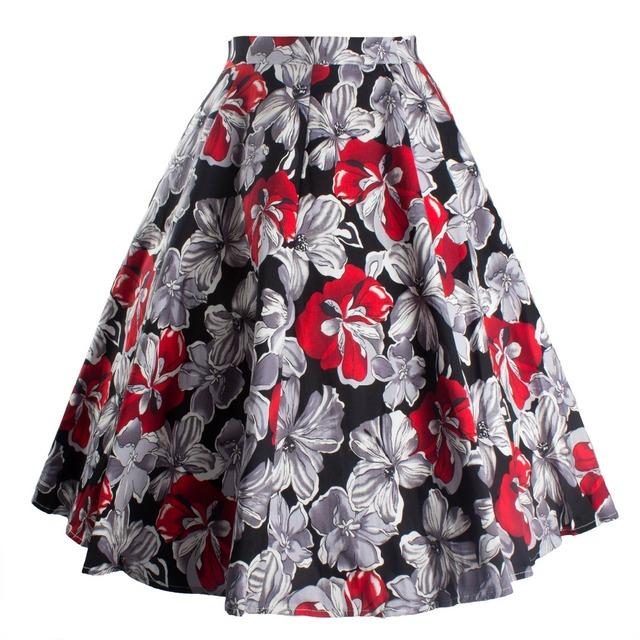 Ladies Skirts Women Skirt Vintage Floral Print
