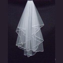 New arrival bridal veil custom madetulle veil for bride wedding veil two layers simple veil for.jpg 250x250
