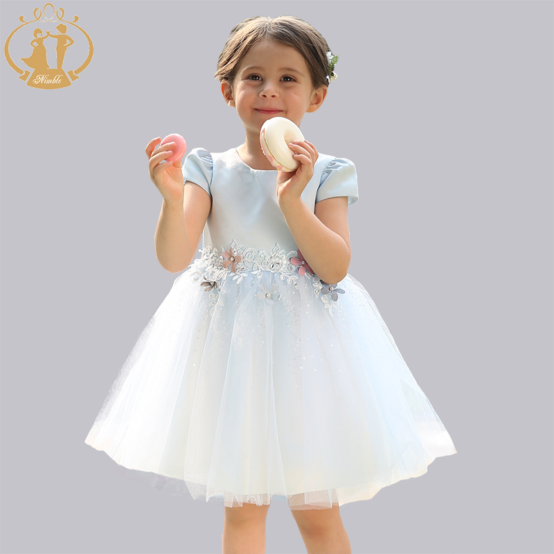 Nimble girls dress Summer dress Bridesmaid Birthday Party dress kids dresses for girls robe fille unicorn baby girl clothes new arrival princess girl dress party wedding birthday kids tutu dress for girls dresses clothes summer 2017 robe fille enfant