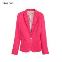 NEW 2017 Spring Autumn Blazer Women Suit Foldable Brand Jacket Made Of Cotton Spandex Ladies Refresh