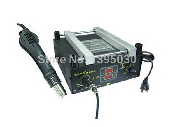 1PC 220/110V 600W KADA 853A 110v / 220V SMD Rework Soldering Station Warm-up Infrared rays Hot air gun pc 220 б у