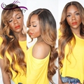 Brazilian Virgin Hair Full Lace Human Hair Wigs T1b/27 Two Tone Ombre Dark Roots Honey Blonde Lace Front Wigs