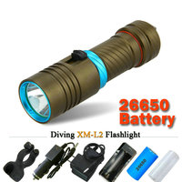 Powerful Scuba Diving Flashlight Xml L2 Archon Hunting Underwater Light Rechargeable Torch Led Cree Xm L2