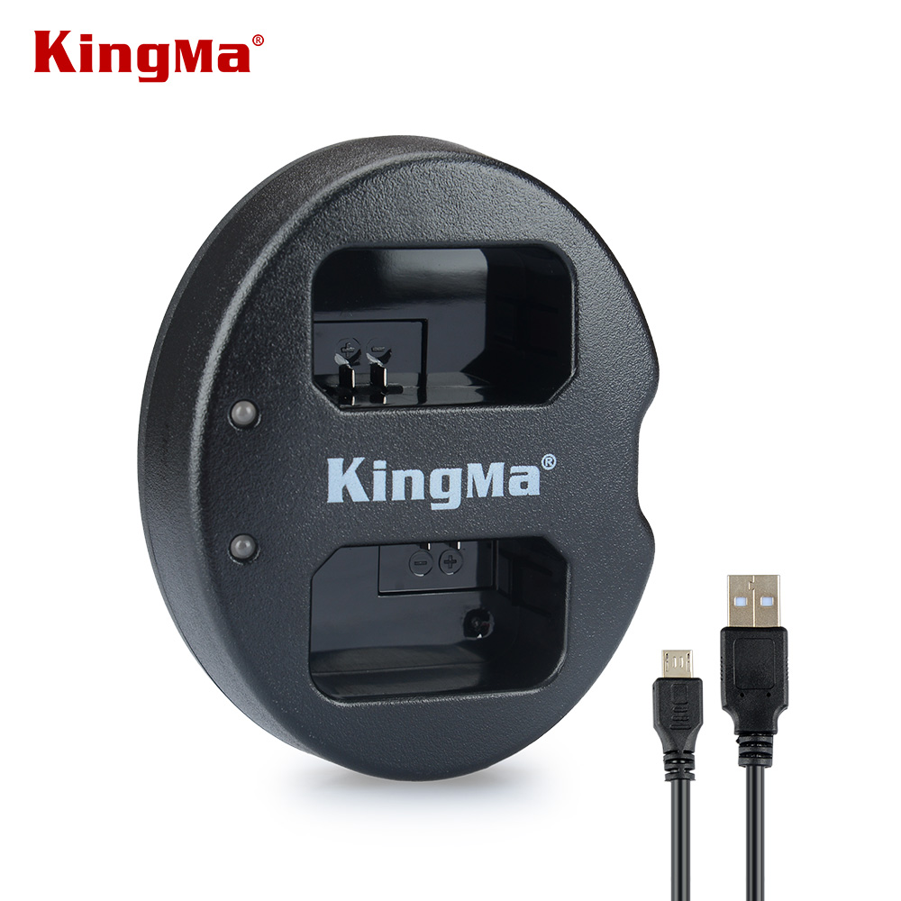 KingMa USB Dual Charger for SONY FW50 NP FW50 NP-FW50 NPFW50 Battery NEX-3 NEX-5 NEX-6 SLT-A55 A33 A55 A37 A3000 A5000 A6000 np fw50 8000mah camera external power for sony nex 5r nex 7 a55 a7r a7m2 a6500 nex 6 smartphone external mobile power battery
