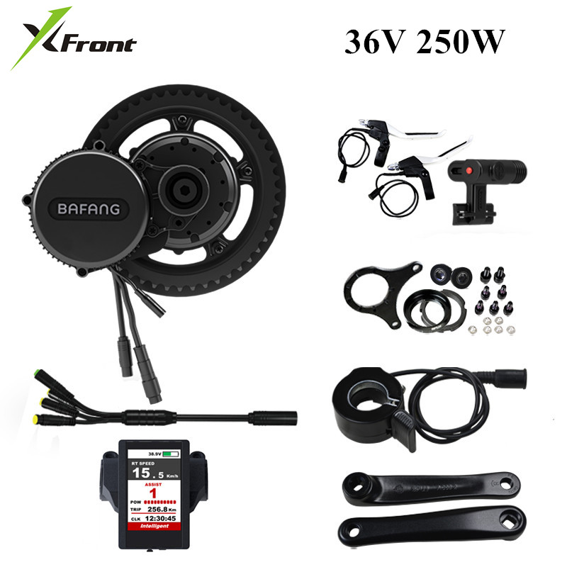 New Bafang bbs01B 36V 250W Ebike Electric bicycle Motor 8fun mid drive Electric bicycle conversion kit C850 Color Display Engine