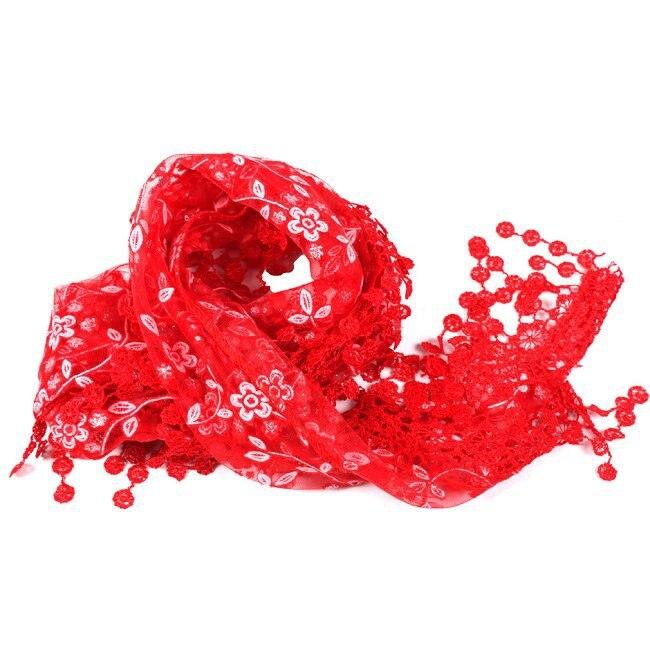 140cm New Fashion Long   Scarf   Women Lace Hollow Tassel   Scarves     Wrap   Shawl Stole Soft Triangular Thin   Scarf