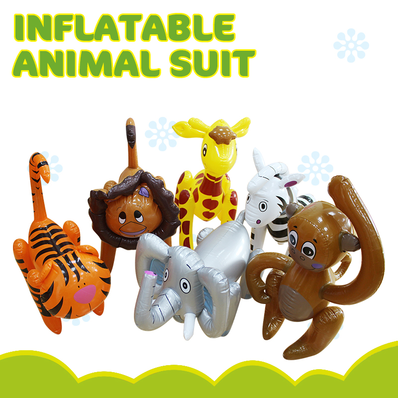 6 Style Inflatable Tiger Elephant Lion Zebra Inflatable Toys For Girl Boys Birthday Christmas Party Kids Gifts Animal Ballons