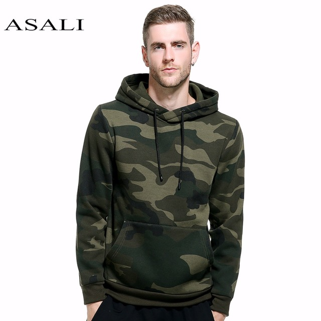 ASALI Camouflage Hoodies Men 2018 New Sweatshirt Male camo Hoody Hip Hop  Autumn Winter Fleece Military Hoodie US Plus Size 382fad22246