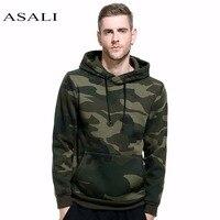 ASALI Camo Hoodies Men 2017 New Sweatshirt Male Hoody Hip Hop Autumn Winter Military Fleece Hoodie