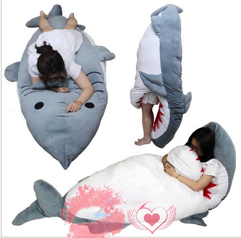 Огромный, гигантский 2017 большая акула спальный мешок погремушка диван кровать плюшевые игрушечные лошадки кукла Рождество